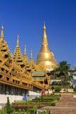 pagodashwedagon Arkivfoto