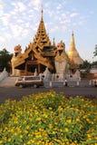 pagodashwedagon yangon Royaltyfri Foto