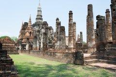 Pagode antigo no parque histórico de Sukhothai, Tailândia/Sukhothai Fotografia de Stock