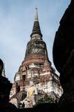 Pagode in archäologischem von Ayutthaya Stockfotografie