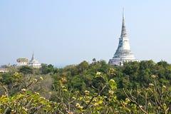 Pagode auf dem Berg in Tempel Phra Nakhon Khiri (Khao Wang) Stockbilder