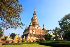 Pagode in Ayutthaya Thailand Stock Afbeelding