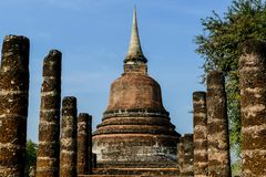 Pagode in Ayutthaya Thailand, digitales Fotobild als Hintergrund lizenzfreies stockbild