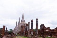 Pagode bij Ayutthaya tempel, Thailand Stock Foto's