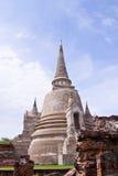 Pagode bij Ayutthaya tempel, Thailand Stock Foto