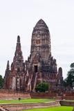 Pagode bij Ayutthaya tempel, Thailand Stock Afbeeldingen