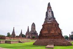 Pagode bij Ayutthaya tempel, Thailand Stock Afbeelding