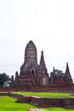 Pagode bij Ayutthaya tempel, Thailand Royalty-vrije Stock Foto's