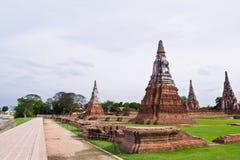 Pagode bij Ayutthaya tempel, Thailand Stock Fotografie