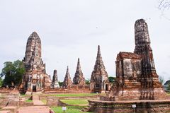 Pagode bij Ayutthaya tempel, Thailand Royalty-vrije Stock Afbeelding