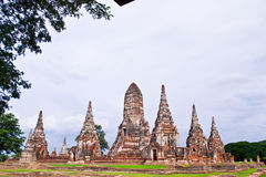 Pagode bij Ayutthaya tempel, Thailand Royalty-vrije Stock Fotografie