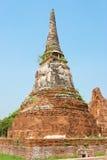 Pagode bij de Tempel van Wat Chaiwattanaram, Ayutthaya, Th Stock Foto