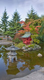Pagode bij Japanse Tuin royalty-vrije stock afbeeldingen