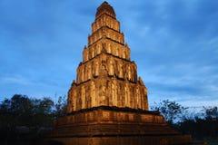 Pagode bij schemering, Thailand Royalty-vrije Stock Foto's