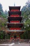 Pagode bij Tempel Rinnoji Stock Afbeeldingen