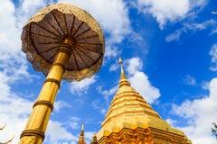 Pagode bij Thaise tempel, wat phra dat doi suthep Stock Foto