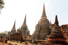 Pagode bij Watprasrisanpet-Tempel in Ayudhaya, Thailand Royalty-vrije Stock Afbeeldingen