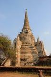Pagode bij Watprasrisanpet-Tempel in Ayudhya, Thailand Stock Afbeeldingen