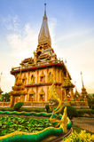 Pagode chalong tempel Stock Afbeelding