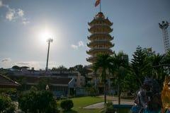 Pagode chinês em Hatyai, Songkhla, Tailândia Fotografia de Stock