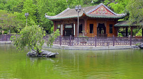 Pagode in Chinese tuin Royalty-vrije Stock Afbeelding