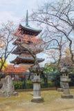Pagode cinco contado do templo de Kaneiji no parque de Ueno fotos de stock royalty free