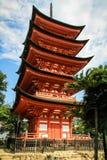 pagode Cinco-contado Gojunoto, santuário Senjokaku de Toyokuni, Miyajima, Hiroshima, Japão fotos de stock