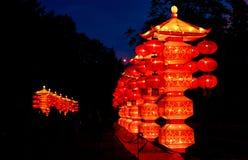 Pagode cinesi della lanterna Fotografia Stock