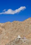 Pagode da paz de mundo, cidade de Leh, Ladakh, Índia Foto de Stock Royalty Free