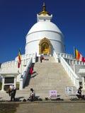 Pagode da paz de mundo em Pokhara imagem de stock