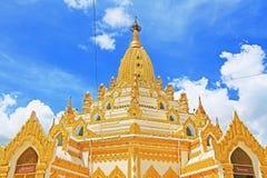 Pagode da relíquia do dente da Buda, Yangon, Myanmar Fotografia de Stock