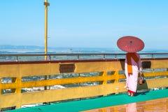 Pagode da SU Taung Pyae, monte de Mandalay, Myanmar & x28; Burma& x29; imagem de stock royalty free