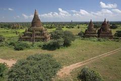 Pagode de Bagan em Myanmar foto de stock royalty free