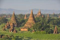 Pagode de Bagan em Myanmar imagens de stock