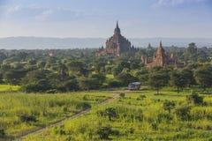 Pagode de Bagan em Myanmar fotos de stock