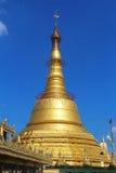 Pagode de Botatanug - Yangon, Myanmar Rangoon, Burma Imagem de Stock Royalty Free