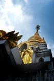 Pagode de Mahasantikhiri, Mae Salong, Chiang Rai, Tailândia Imagens de Stock