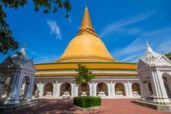 Pagode de Phra Pathom Chedi, Nakhorn Pathom, Tailândia Fotos de Stock Royalty Free