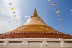 Pagode de Phra Pathom Chedi, Nakhorn Pathom, Tailândia Fotos de Stock