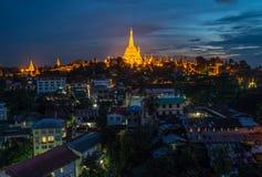 Pagode de Shwedagon de Yangon, Myanmar imagens de stock