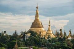 Pagode de Shwedagon de Yangon, Myanmar fotografia de stock