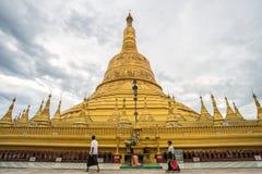 Pagode de Shwemawdaw de Bago, Myanmar imagens de stock