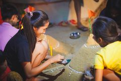 Pagode de Songkran Fotografia de Stock