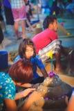 Pagode de Songkran Fotos de Stock