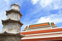 Pagode der chinesischen Art im buddhistischen Tempel Stockfoto