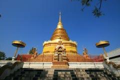 Pagode do ouro de Tailândia Imagem de Stock Royalty Free