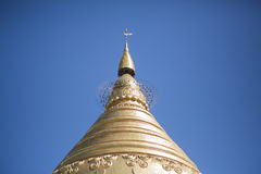 Pagode do ouro em Myanmar Fotografia de Stock Royalty Free