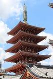 Pagode do santuário de Asakusa Imagens de Stock Royalty Free