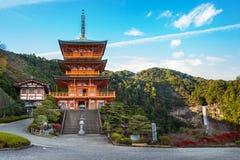 Pagode do templo de Seiganto-ji em Nachi Katsuura fotos de stock royalty free