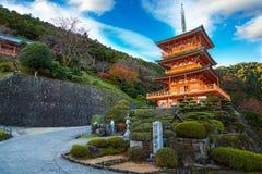 Pagode do templo de Seiganto-ji em Nachi Katsuura fotos de stock